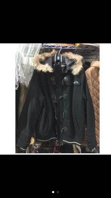 Arnold Palmer 雨傘牌 羊毛 大衣 夾克 外套 連帽 毛領 二手 古著 日本 牛角 短板