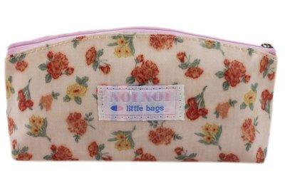【卡漫迷】出清 田園小碎花 化妝包 只剩一個 ㊣版 復古 印花 筆袋 拉鍊 防潑水 萬用包 ~ 9 9 元