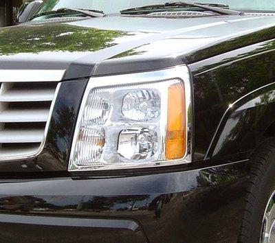 圓夢工廠 Cadillac 凱迪拉克 Escalade 2002~2006 改裝 鍍鉻 亮銀 車燈框飾貼 前燈框 後燈框