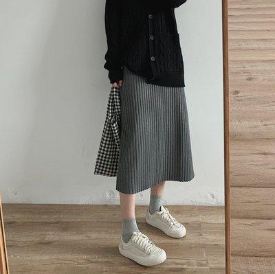 【UBY】顯瘦修身!坑條直筒針織裙◄No11105