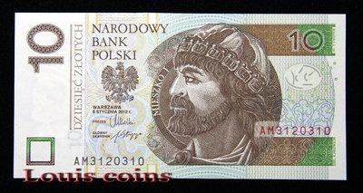 【Louis Coins】B467 POLAND 2012波蘭紙幣 10 Złotych