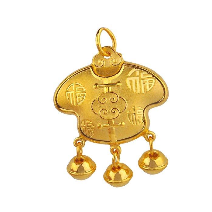 【JHT 金宏總珠寶/GIA鑽石】2.12錢百福黃金平安鎖