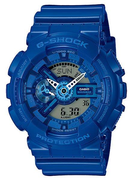 【日貨代購CITY】2014SS CASIO G-SHOCK 男錶 手錶 雙顯 機械 寶石藍 GA-110BC-2A 現貨