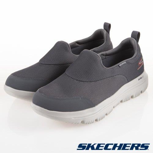 【曼曼鞋坊】SKECHERS 男鞋 男款 健走鞋 休閒鞋 全天候 EVOLUTION (防水) 54755CHAR
