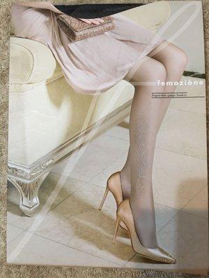 Fukuske femozione 福助高端線產品 蕾絲花紋絲襪 黑絲 日本製