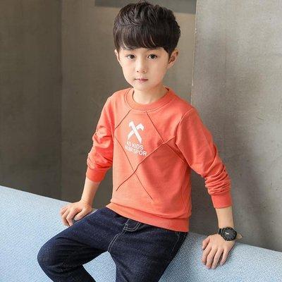 男童T恤兒童t恤男童衛衣新款春秋裝季潮款套頭兒童中大童裝長袖小孩衣服上衣