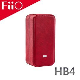 【風雅小舖】【FiiO HB4 皮革質感耳機/播放器攜行盒-防滑耐磨材質/強力減震/磁吸設計/優質絨布內襯】