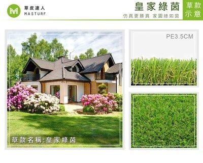 【草皮達人】人工草皮PE-3.5cm 皇家綠茵 每平方公尺NT750元(價格可含稅,量大可議) 園藝 裝潢 設計