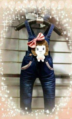 *麗綺童裝* 甜美女孩吊帶褲(吊帶可拆)Ku1-099