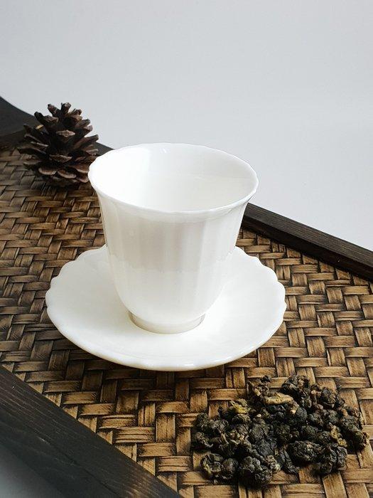 【茶嶺古道】白玉瓷 茶杯托(大)/白瓷 玉瓷 杯托 茶奉 茶杯墊 功夫茶道具