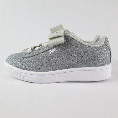 PUMA VIKKY V2 RIBBON GLITZ AC 中童休閒鞋 蝴蝶結 37063403 金蔥灰【iSport】
