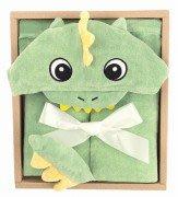 尼德斯Nydus 日本正版 嬰兒用品 浴巾 連帽浴巾 包巾 睡衣 睡袍 小恐龍
