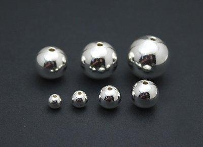 嗨,寶貝手創飾品工作室* 925純銀 DIY串珠配件☆990純銀 3mm銀珠光定位珠特價10顆90元