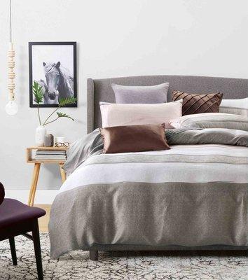《微琪》摩卡時代 米 頂級100%天絲40支床包二用被4件組-標準雙人(5尺)