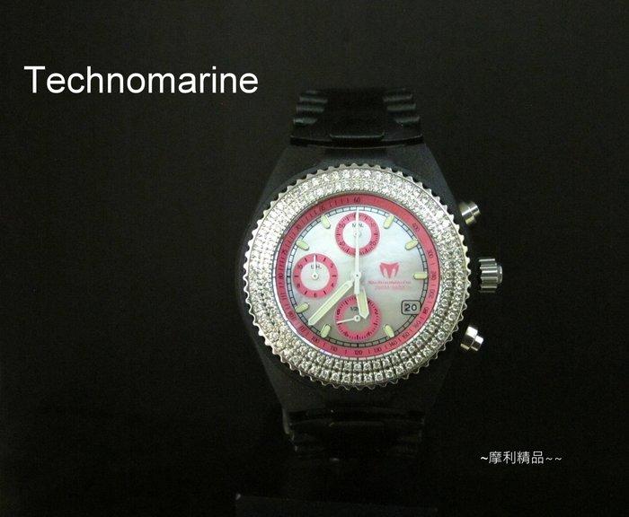 【摩利精品】Technomarine 鐵克龍鑽石計時錶*真品*