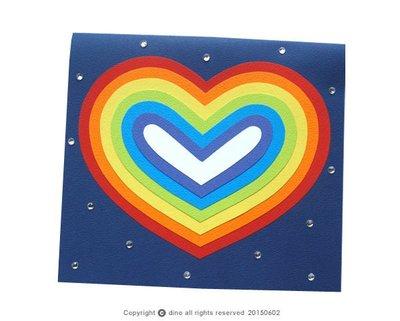 【Dino小恐龍:手創館】手工卡片:Colorful Love _B款(情人卡、母親卡、萬用卡)