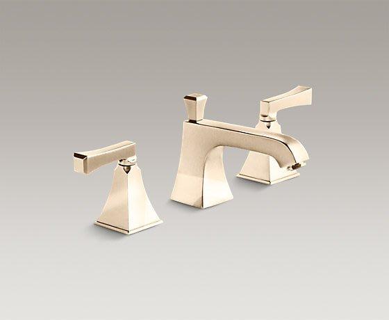浴室的專家 *御舍精品衛浴 KOHLER Memoirs系列 三孔 古典風  法藍金 臉盆龍頭 K-454T