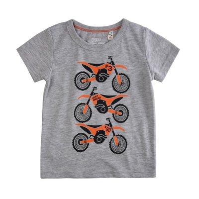 【Mr. Soar】 **清倉** C493 夏季新款 歐美style童裝男童摩托車短袖T恤 現貨