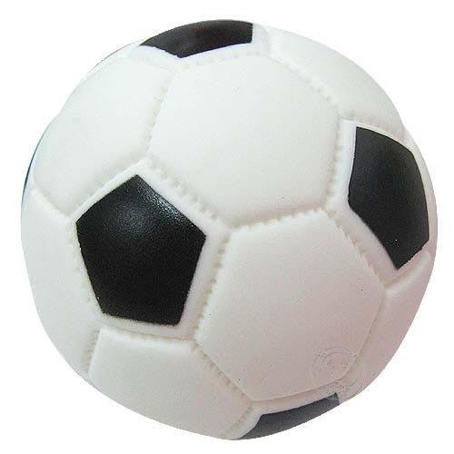 【🐱🐶培菓寵物48H出貨🐰🐹】寵物啾啾叫玩具球-足球(小) 直徑7cm 特價35元/顆