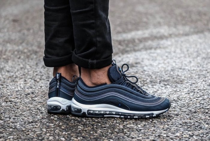 new product bcf9b c8901 Cheers】 Nike Air Max 97 OG Obsidian 藍色深藍大氣墊限量鞋921826-402 ...