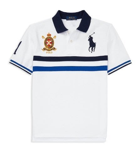 POLO Ralph Lauren 大馬 徵章 短袖 polo衫 青年款 白色