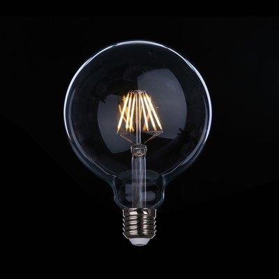 DL燈泡博士💡 G125愛迪生LED燈泡6W復古燈泡串頭E27全電壓周光黃光暖白光旭億光舞光棧龍珠仿鎢絲燈泡商空客廳