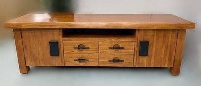 全新庫存家具賣場 中古家具 家電 EA920IE*全新實木厚板電視櫃* 櫥櫃 高低櫃 收納櫃 展示櫃 中古傢俱拍賣