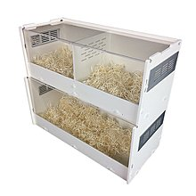 亞克力透明水晶雙層爬蟲盒爬蟲箱飼養箱缸蝎子蜥蜴蜘蛛包
