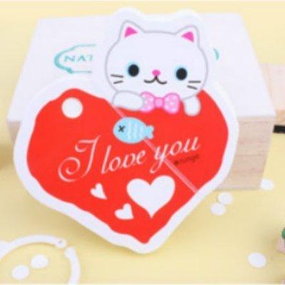 angel love熊熊小貓小狗動物筆記本隨身便條紙 學生禮品 活動贈品-艾發現