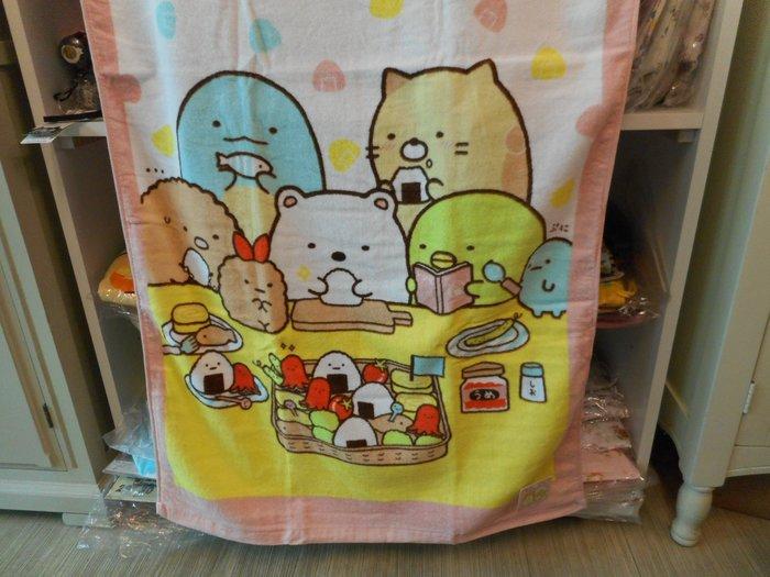 ~~凡爾賽生活精品~~全新日本進口角落生物飯糰造型大浴巾
