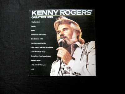 絕版黑膠唱片----KENNY ROGERS----THE GAMBLER