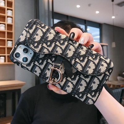 迪奧蘋果12手機殼iPhone11promax刺繡防摔適用12mini卡包潮牌Dior