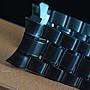 艾曼達精品~20mm彎頭黑色PVD超值sea master海馬風格實心不鏽鋼錶帶替代同規格之原廠錶帶