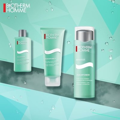 Biotherm Aquapower Hydration Program Set 溫泉強效保濕1.2.3套庄