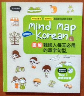 【探索書店149】Mind Map Korean 圖解韓國人每天必用的單字句型(附光碟) 漢宇國際 190427
