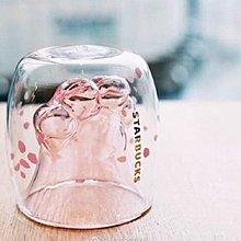 人氣爆燈雙層玻璃貓手杯
