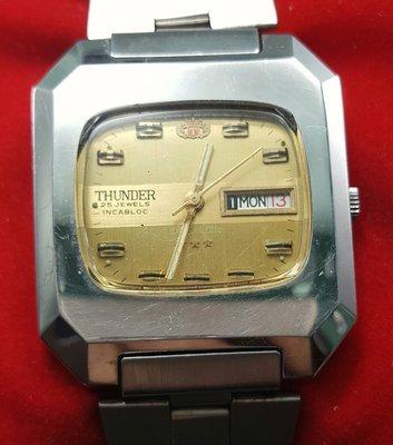 OQ精品腕錶  瑞士THUNDER錶ETA機蕊自動上鍊機械錶不含龍頭37X42MM