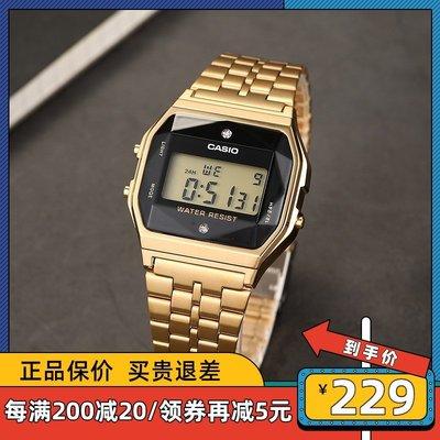 手錶屋 Casio卡西歐生活防水卡西歐潮流小金錶手錶休閒腕錶男 A159WGED-1