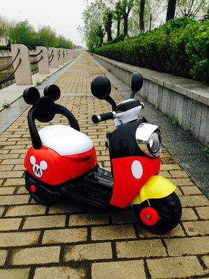 (台灣湯淺電池)兒童電動機車  米奇款-現貨(供應)