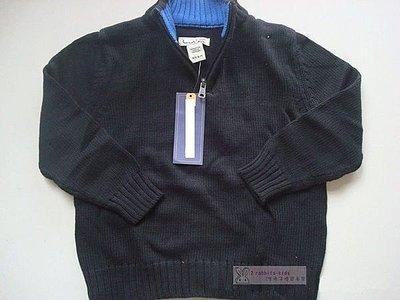 。2隻兔子優質童裝。美國品牌 男童黑色立領拉錬棉線衣 4-10Y(A1223)冬季款