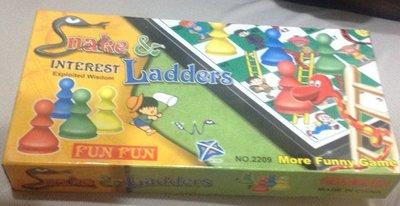 全新攜帶型摺疊式磁性蛇梯棋 Snake Ladders 蛇棋 棋類 益智桌遊