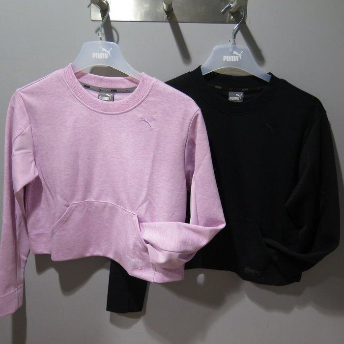 【iSport愛運動】PUMA 基本系列FUSION短版圓領衫 正品 853925- 女款 2色