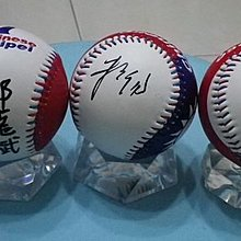 棒球天第--賣場唯一--北北中三都市長簽名新版國旗浮雕球--郝龍斌.朱立倫.胡志強