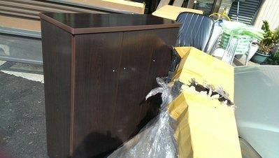 不怕水 塑鋼鞋櫃 胡桃色 大特價 塑鋼櫥櫃可訂做 另報價