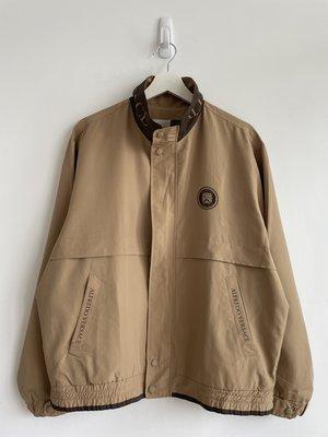 【寶藏屋】 Versace collar spell out logo Harrington 哈靈頓 外套 風衣 夾克