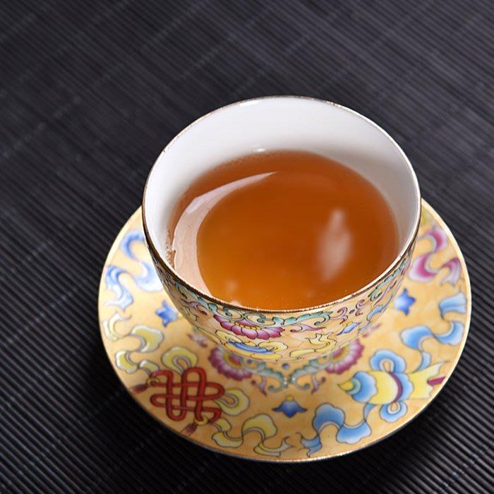 5Cgo【茗道】精美茶具琺琅彩手繪陶瓷茶杯品茗杯功夫茶具杯普洱杯單杯茶桌必備茶功夫六色可選 569198756292