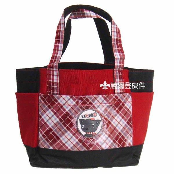 《葳爾登》UNME兒童手提袋便當袋補習袋文具袋才藝袋【寬底大開口】兒童餐袋3119紅色