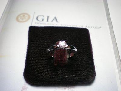 圓如玉珠寶------天然圓鑽GIA證書31分G.SI1單顆主鑽H&A14K白K金經典女戒