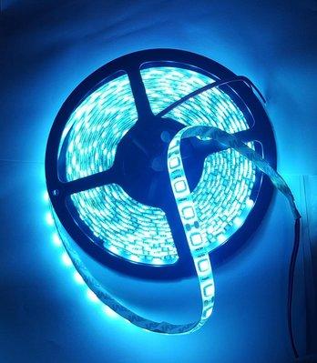 瘋 ~ 今日特價 冰藍色 5050 軟燈條 12V 就此一卷共5米 300顆燈珠 頭尾紅黑尾線 直接接12V變壓器