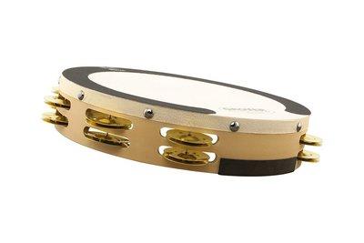 【卓悅水牛樂器】Grover Pro Sound Values™ 系列 SV-TAMB-BR 10吋雙排銅片鈴鼓